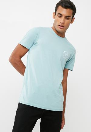 Cotton On Tbar Tee T-Shirts & Vests Dusty Blue