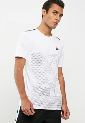 Nike Tech Futura Tee T-Shirts White & Black