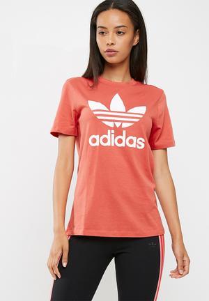 Adidas Originals Classic Logo Tee T-Shirts Burnt Orange
