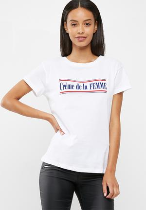 Dailyfriday Cremedelafemme Tee T-Shirts, Vests & Camis White