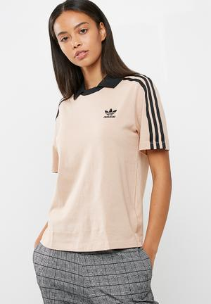 Adidas Originals Fashion League Polo Tee T-Shirts Beige