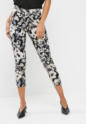 Dailyfriday Cigarette Pant Trousers Black, Grey & Beige
