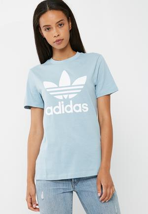 Adidas Originals Classic Logo Tee T-Shirts Dusty Blue