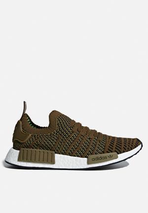Adidas Originals NMD_R1 STLT PrimeKnit Sneakers Trace Olive / Core Black / Solar Slime