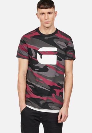 G-Star RAW Zeabel T-Shirts & Vests Pink, Grey & Black