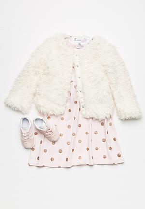 MINOTI Faux Fur Jacket Cream