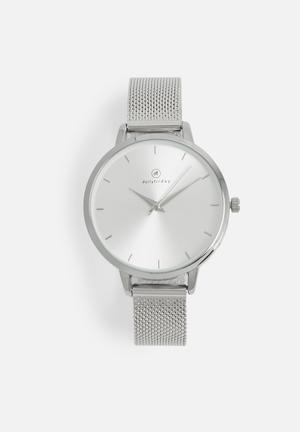 Dailyfriday Nicole Mesh Watch Silver