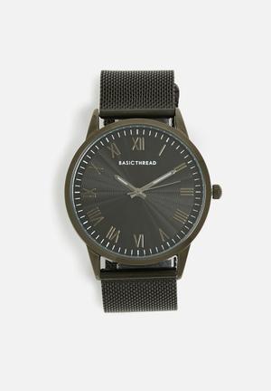 Basicthread Neil Mesh Strap Watch Black