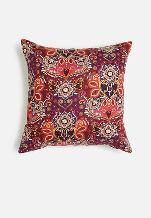 Grey Gardens Festival Of India Cushion Cover 100% Polyester