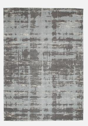 Hertex Fabrics Painterly Cool Grey Rug 100% Cotton