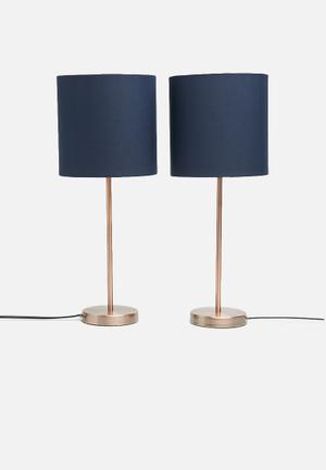 Sixth Floor Upright Table Lamp Set Lighting Metal
