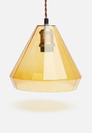 Sixth Floor Facet Glass Pendant Lighting Glass And Mild Steel