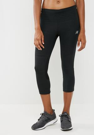 New Balance  Impact Capri Legging Bottoms Black