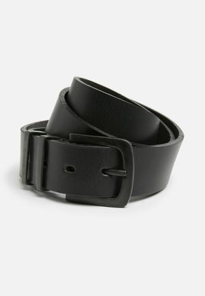 Basicthread Leather Formal Belt Black
