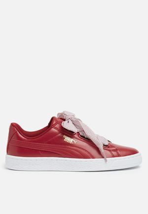 PUMA Basket Heart Sneakers Red Dahlia