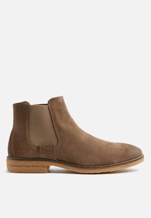 Jack & Jones Charles Suede Chelsea Boots Grey