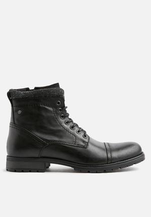 Jack & Jones Marly Leather Boots Black