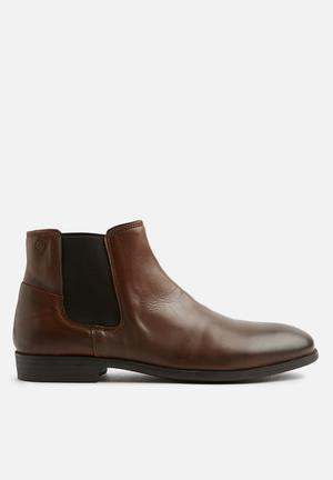 Jack & Jones Frank Leather Boots Cognac