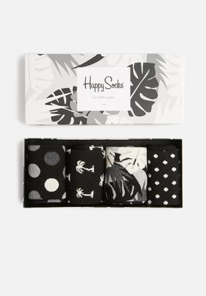 Happy Socks Black And White Gift Box Socks 86% Cotton 12% Polyamide 2% Elastane