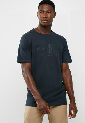 The North Face Woodcut Dome T-Shirts Navy