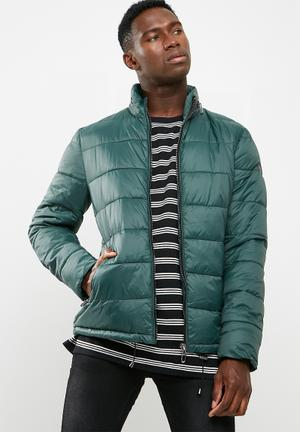Only & Sons Padded Puffer Jacket Green