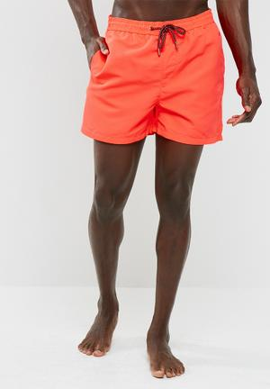 Jack & Jones Sunset Swim Shorts Swimwear Coral