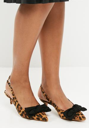 Dailyfriday Isla Heels Brown & Black
