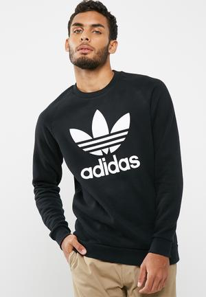 Adidas Originals Trefoil Crew Sweat Black