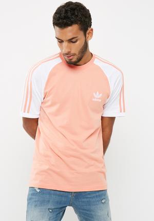 Adidas Originals Cali Tee T-Shirts Peach & White