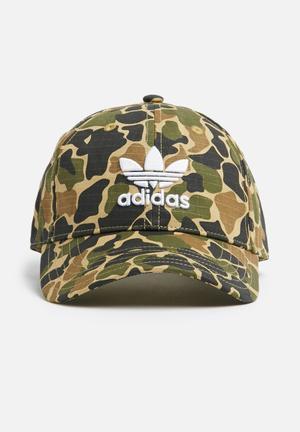 Adidas Originals Camo Baseball Cap Headwear Green, Beige & Brown