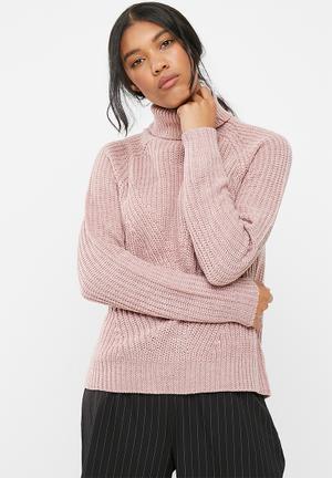 Jacqueline De Yong Justy Sweater Knitwear Pink