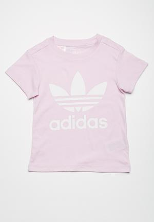 Adidas Originals Kids Trefoil Tee Tops Pale Purple