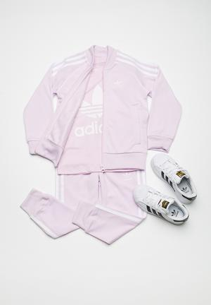 Adidas Originals Kids Trefoil Tracksuit Jackets & Knitwear Pale Purple