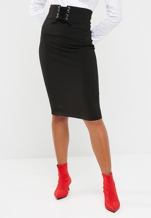 Dailyfriday Corset Bodycon Skirt Black