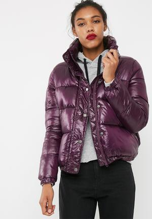 Jacqueline De Yong Roona Cropped Jacket Purple