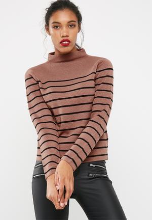 Jacqueline De Yong Adele High Neck Sweater Knitwear 100% Acrylic