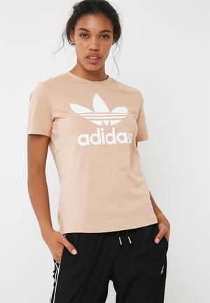Adidas Originals Classic Logo Tee T-Shirts 100% Cotton