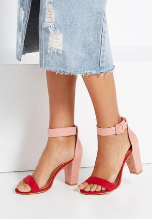 Cotton On San Sebastian Heel Red & Pink