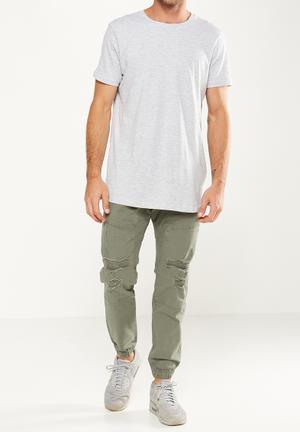 Cotton On Drake Cuffed Ripped Pant Green