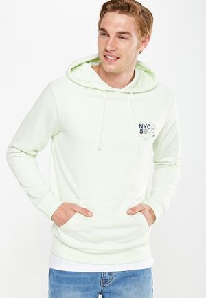 Cotton On Fleece Pullover Hoodies & Sweats Pale Mint