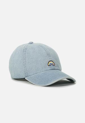 Typo Novelty Caps Headwear Blue