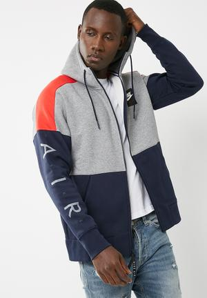 Nike Colourblock Hoodie Hoodies, Sweats & Jackets Navy, Grey & Red