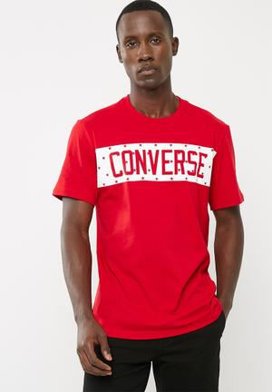Converse Star Block Tee T-Shirts & Vests Red