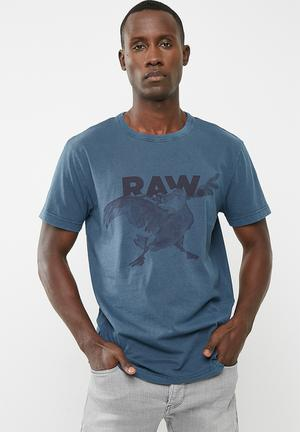 G-Star RAW Parta Relaxed Compact Jersey T-Shirts & Vests 100% Cotton
