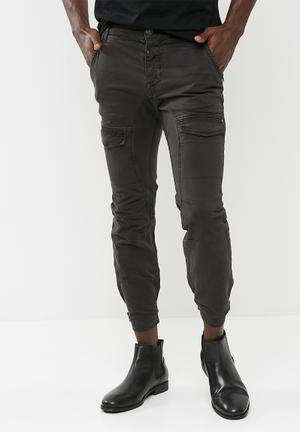 Sergeant Pepper Twill Jogger Pants & Chinos Black