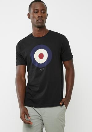 Ben Sherman Target Tee T-Shirts & Vests Black