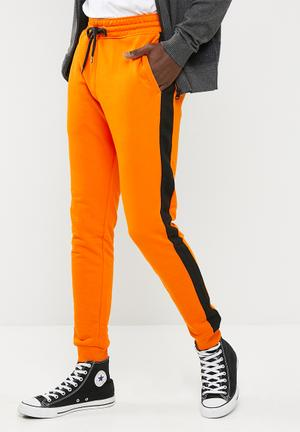 Only & Sons Elliot Side Stripe Sweat Pant Orange