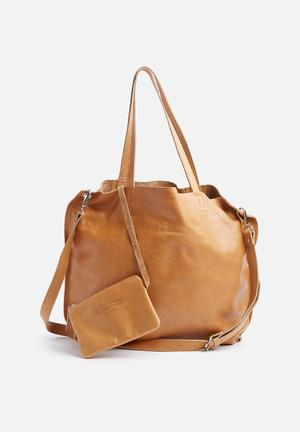 FSP Collection Lacey Leather Shopper Bags & Purses Soft Tan