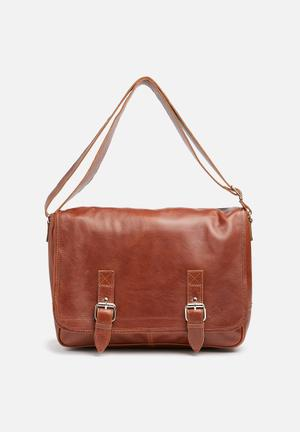 FSP Collection Leather Organiser Bags & Wallets Brown
