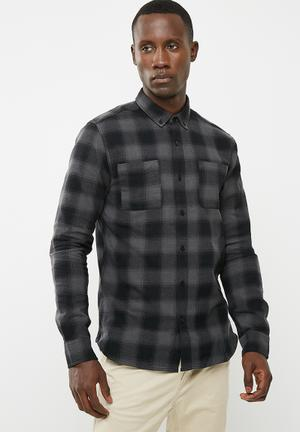 Only & Sons Flaw Regular Fit Shirt Grey & Black